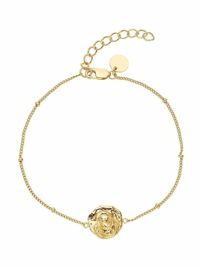 Noelani Armband für Damen, Sterling Silber 925, Heilige Maria, Gold