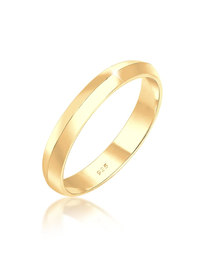 Elli Ring Paaring Basic Trend Stapelring 925 Silber, Gold