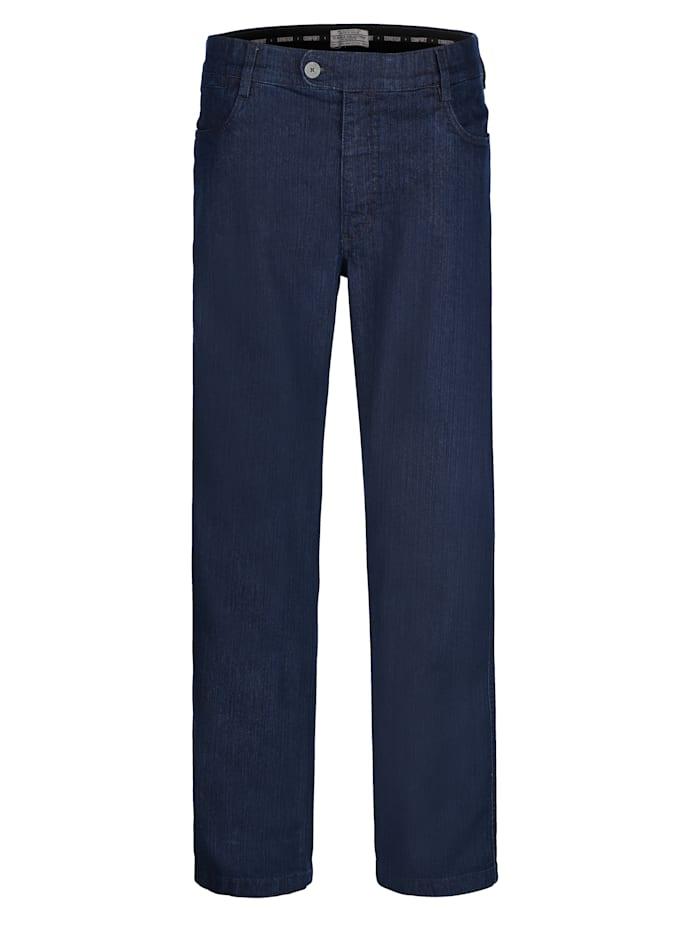 Roger Kent Jeans met comfortabele, elastische band binnenin, Dark blue