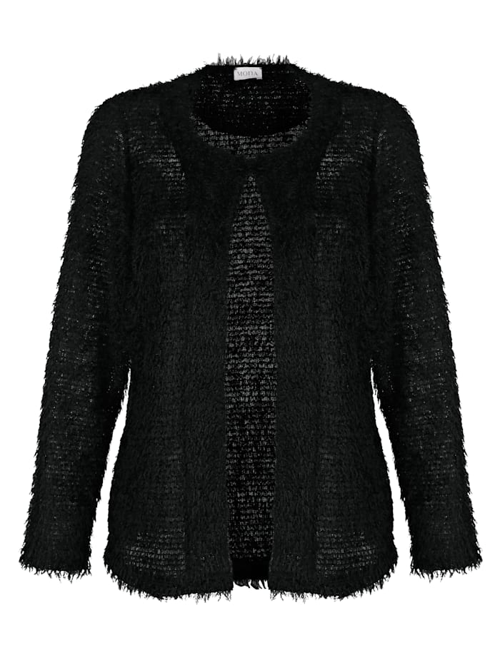 Jacket in a fluffy fabric