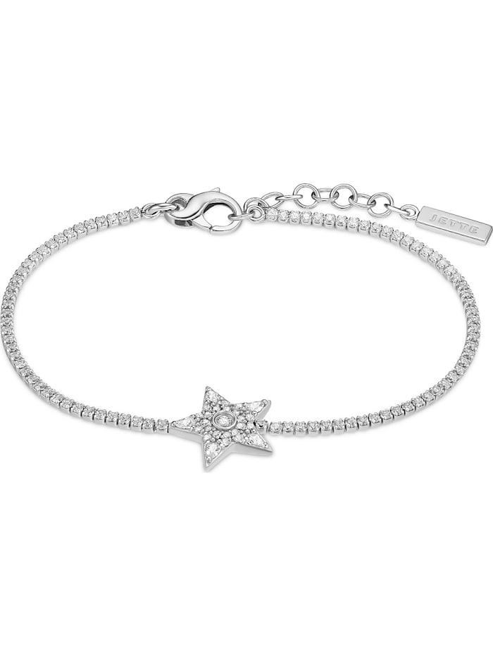 Jette JETTE Damen-Armband 925er Silber 113 Zirkonia, silber