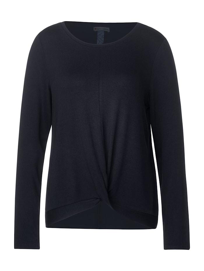 Street One Shirt mit Knotendetail, dark blue