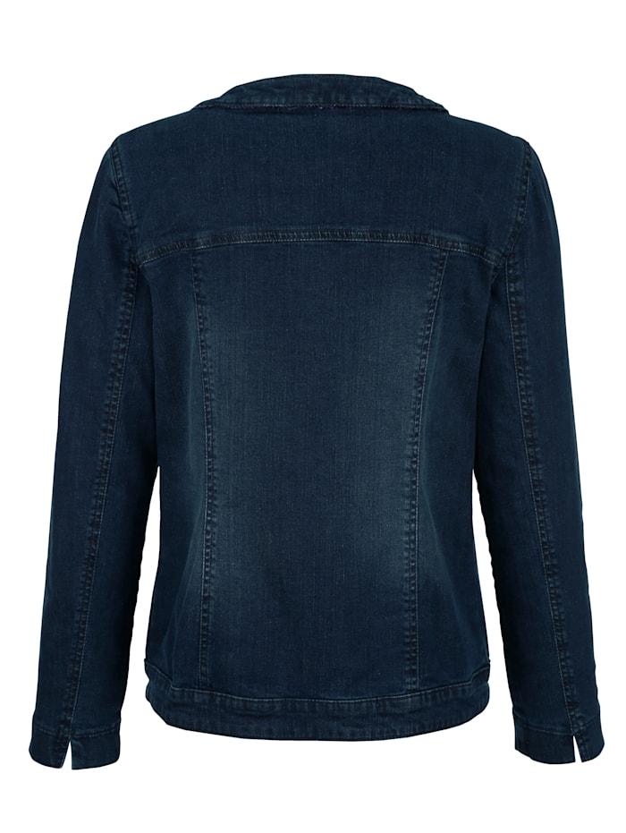 Jeansjacke mit Strasssteine