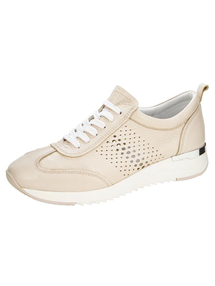 Caprice Sneaker van zacht hertennappa, Ecru