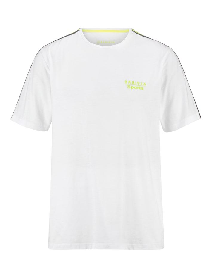 BABISTA T-shirt fonctionnel en coton mélangé séchant rapidement, Blanc