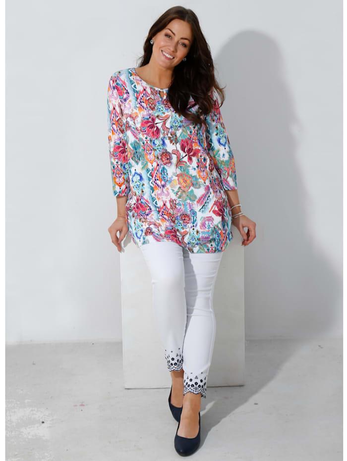 m. collection Shirt in weich fließender Viskosemischung, Multicolor