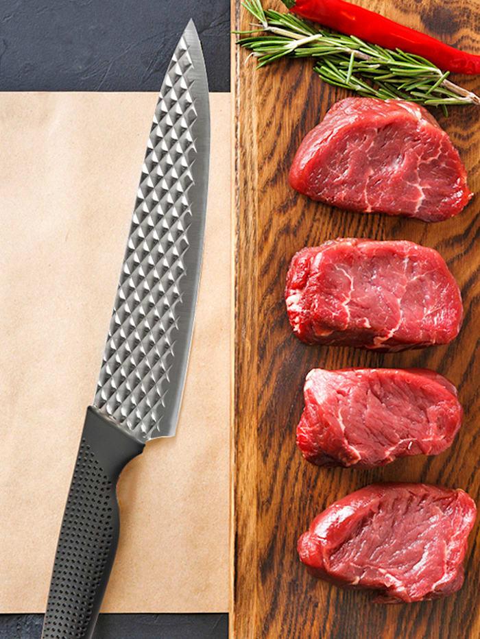 MediaShop Couteau de chef 'Harry Blackstone AirBlade', Noir/coloris argenté