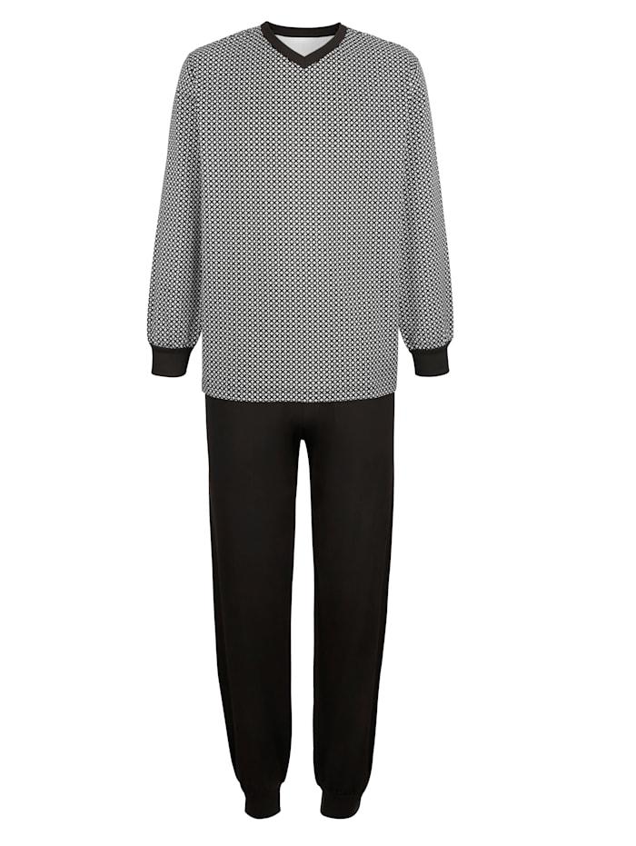 BABISTA Pyjama, Zwart/Wit