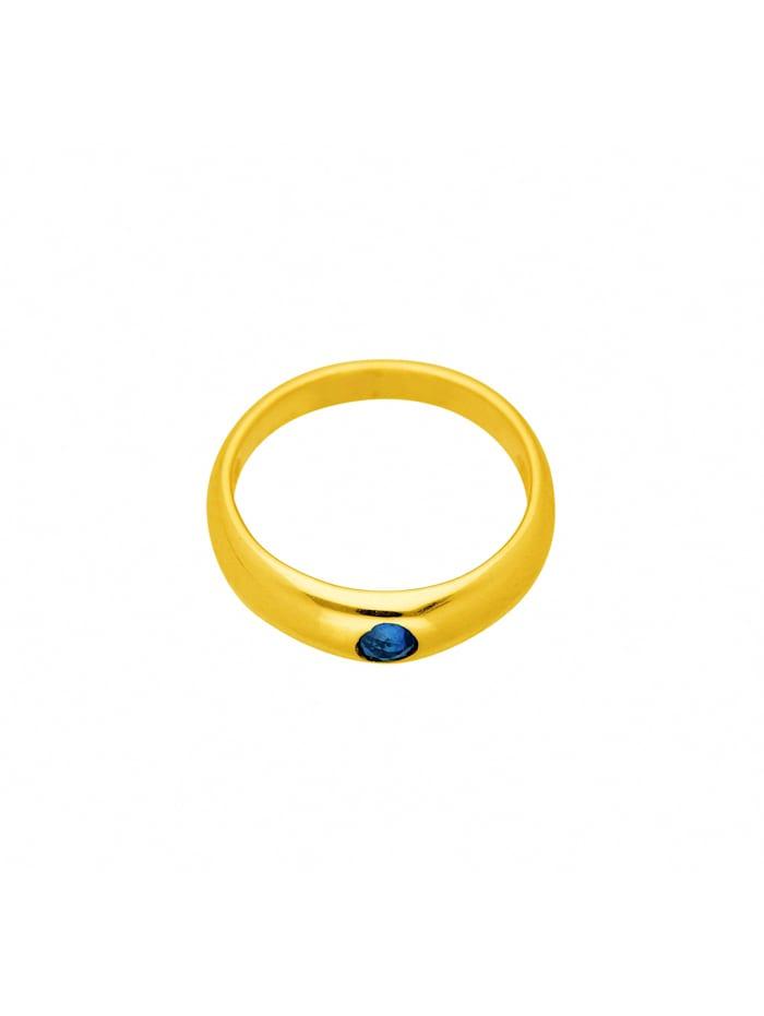 1001 Diamonds Damen Goldschmuck 333 Gold Anhänger Taufring mit Safir Ø 11,2 mm, blau