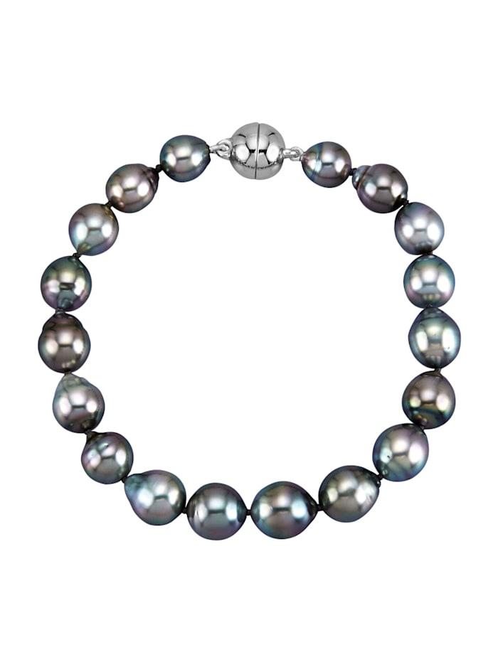 Diemer Perle Armband, Zwart