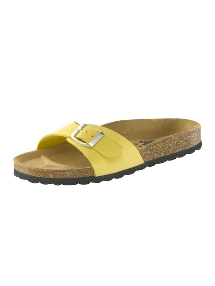 KLiNGEL Bio-Pantolette aus weichem Nubukleder, Gelb