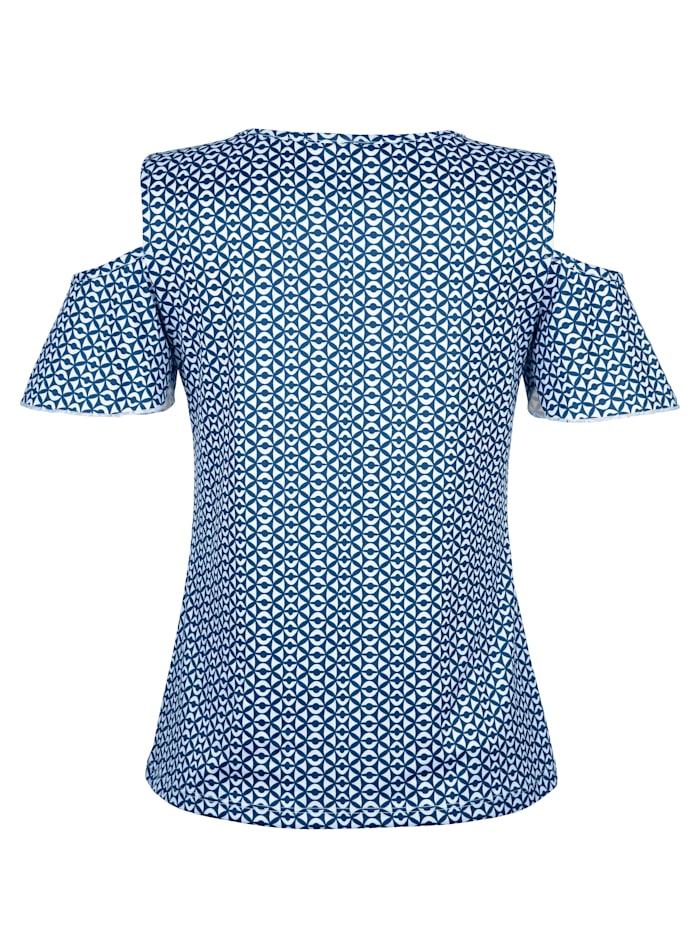 Strandshirt met steentjesversiering