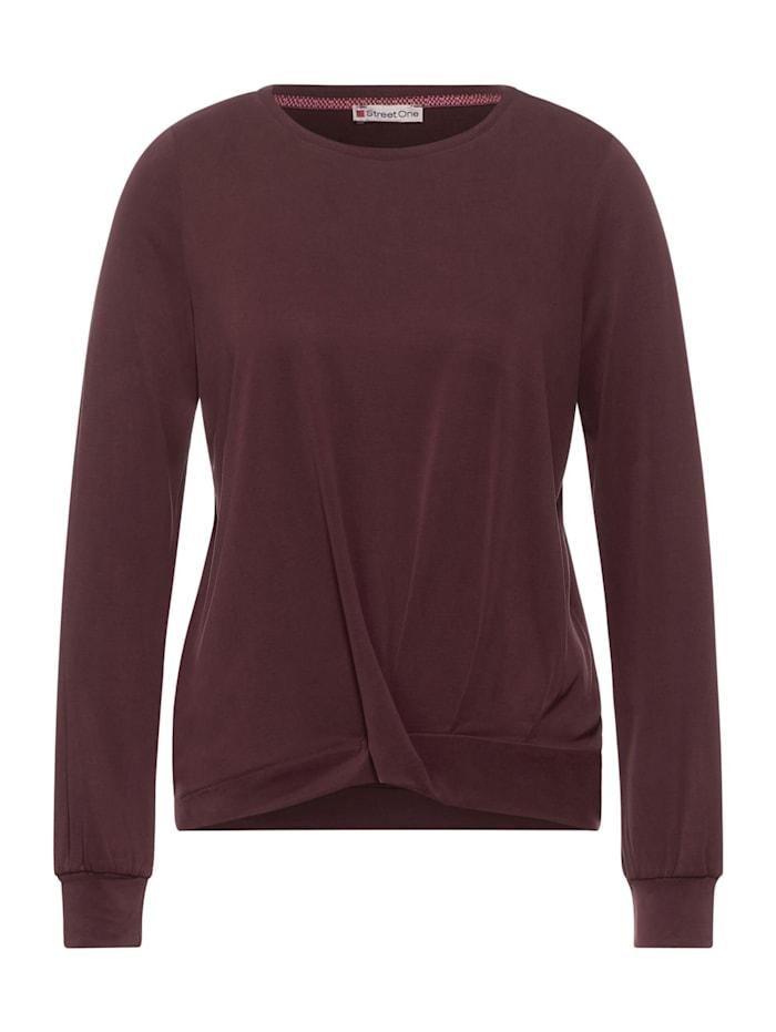 Street One Jersey-Shirt mit Silk Look, burnt sienna red