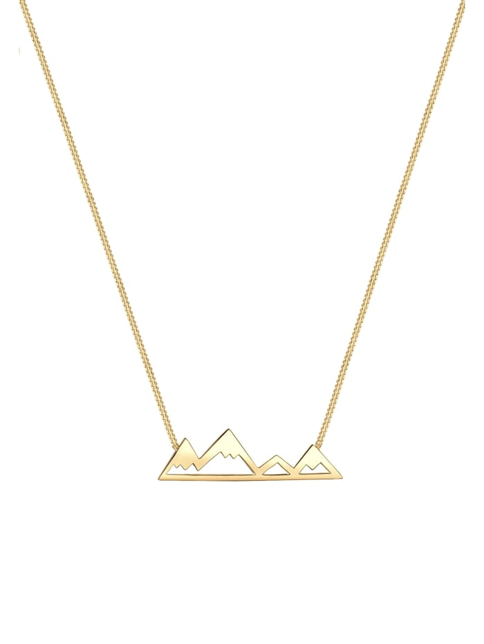 Halskette Berge Mountain Anhänger Reise Cut-Out 925 Silber