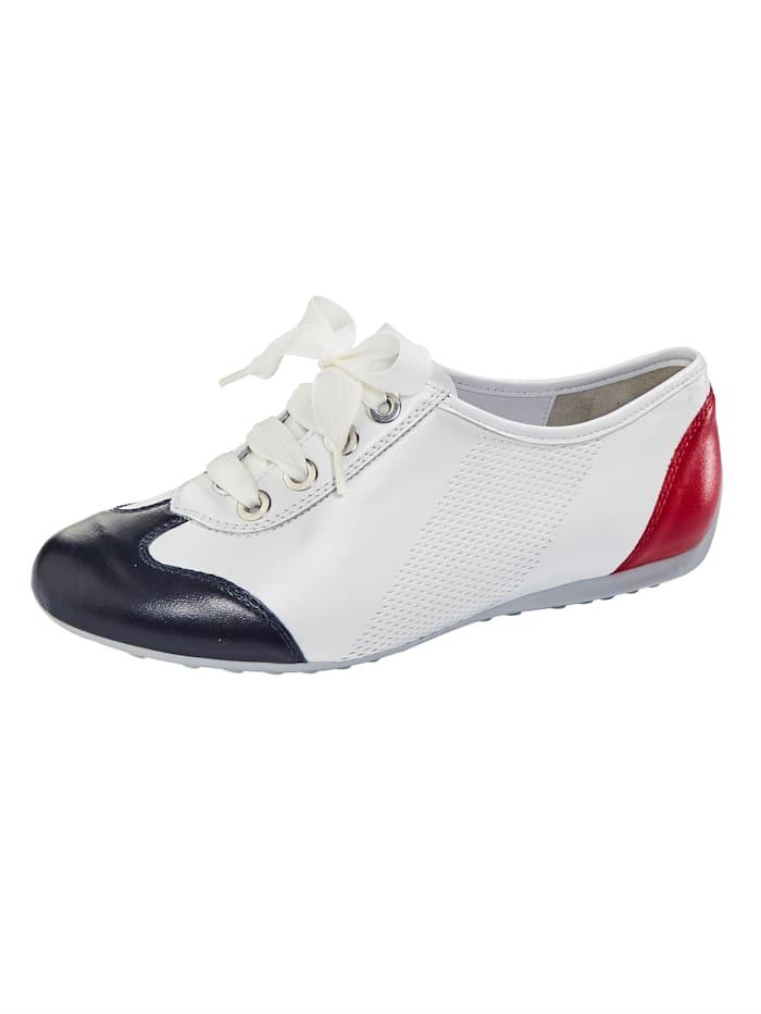 Semler Derbies de style tendance, Blanc/Bleu/Rouge