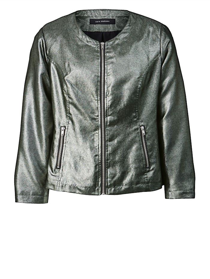 Metallinhohtoinen takki