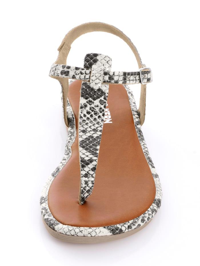 Infradito aus weichem Leder