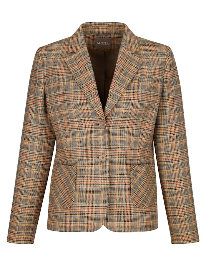 Blazer met prince-de-gallespatroon