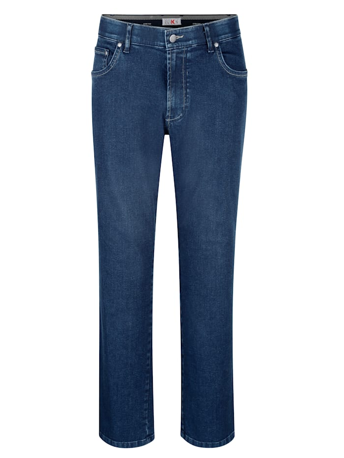 Roger Kent Jeans med komfortresår på insidan av linningen, Blue stone