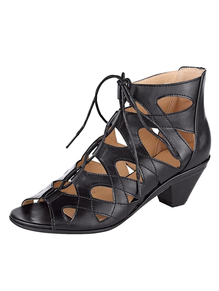 Sandal with unique lace-up detailing