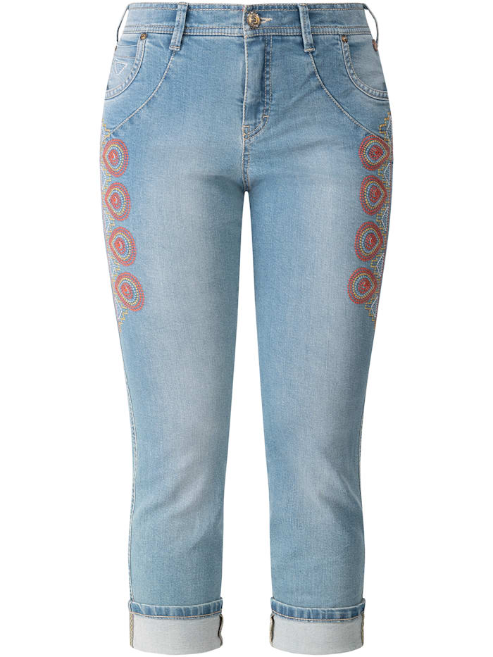 RECOVER Pants Jeans bestickt, bleached