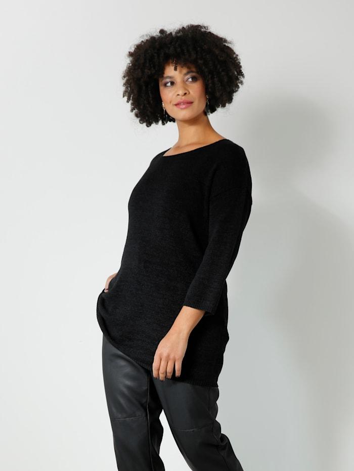 Angel of Style Pullover grob gestrickt, Schwarz
