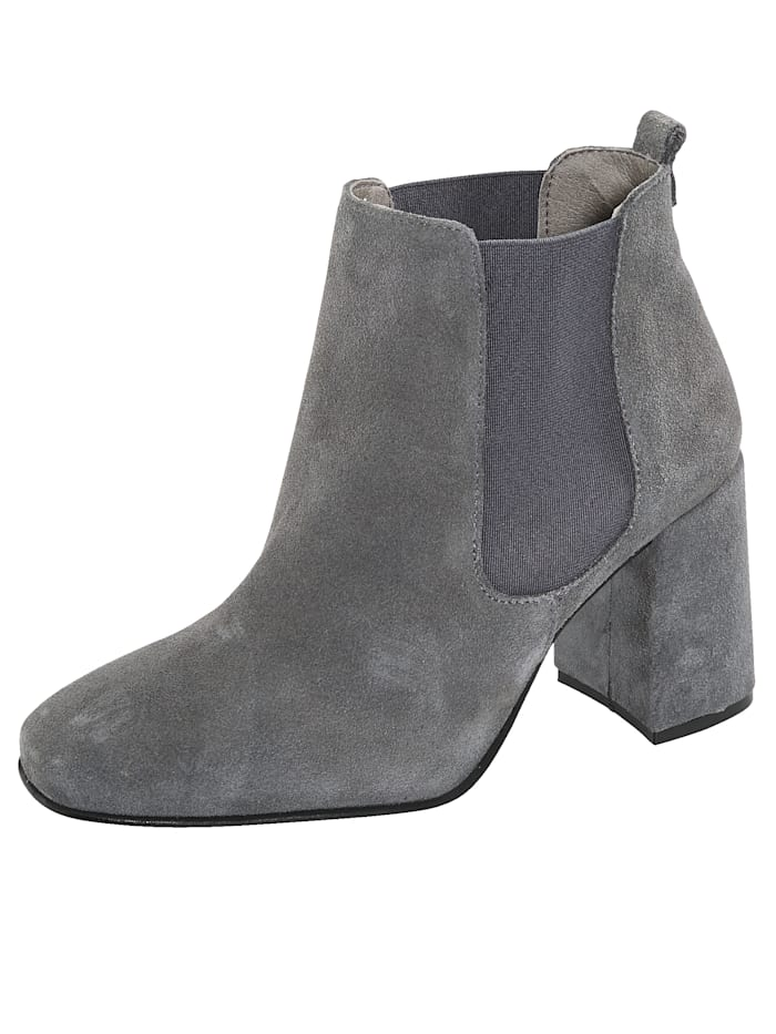 Chelsea Ankle boots made from premium suede leather, Grey
