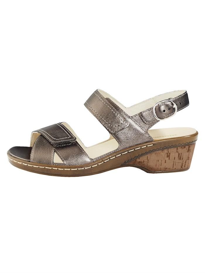 Sandály s nastavitelným suchým zipem na patě