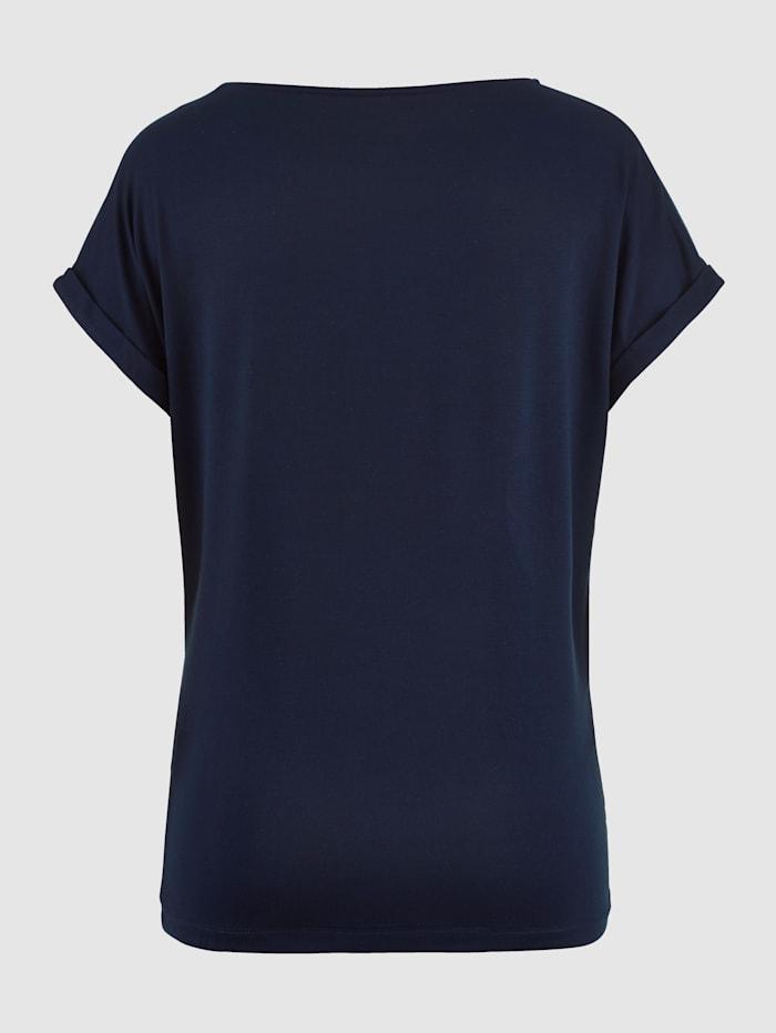 Tričko s výšivkou z lesklé příze
