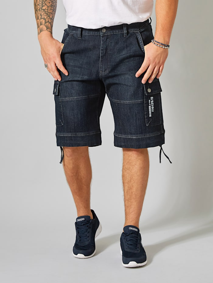 Men Plus Jeanscargo-Bermuda, Dark blue