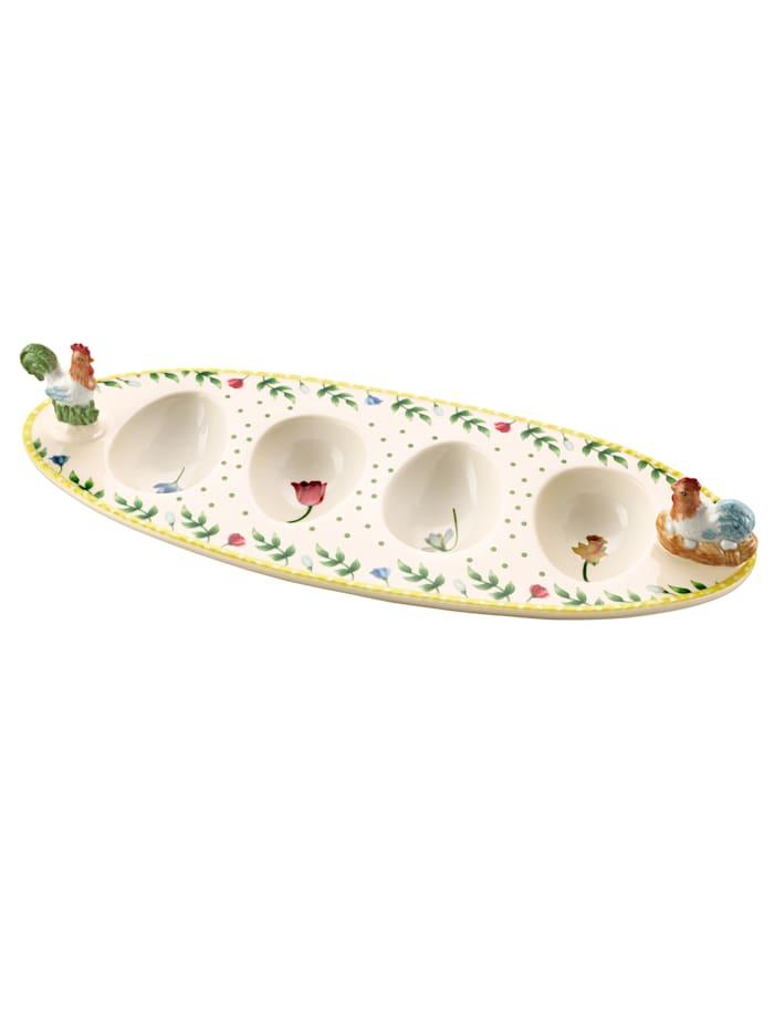 Villeroy & Boch Eierenbootje Haan & hen, Multicolor