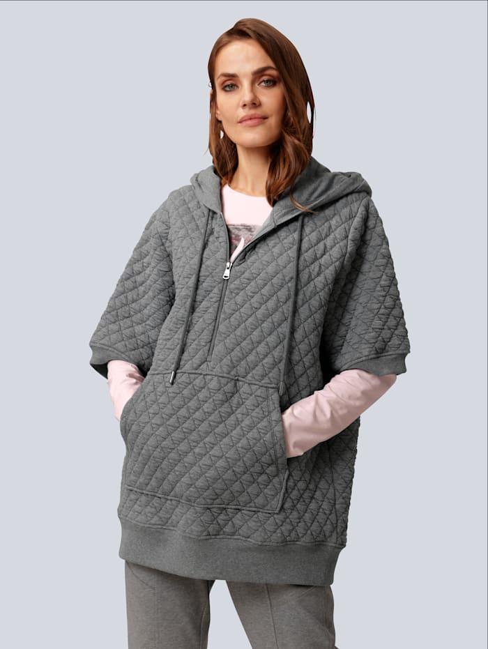 MARGITTES Sweatshirt mit Kängurutasche, Grau