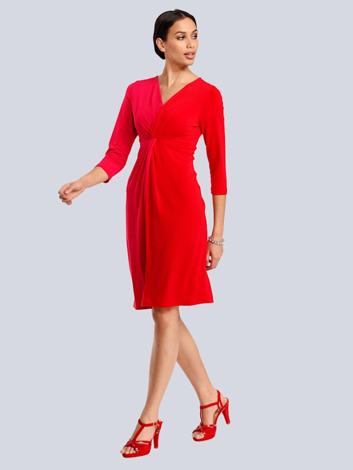 Alba Moda Jurk in 2 kleuren, Pink/Rood