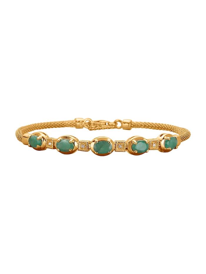 Bracelet serti d'émeraudes, Vert