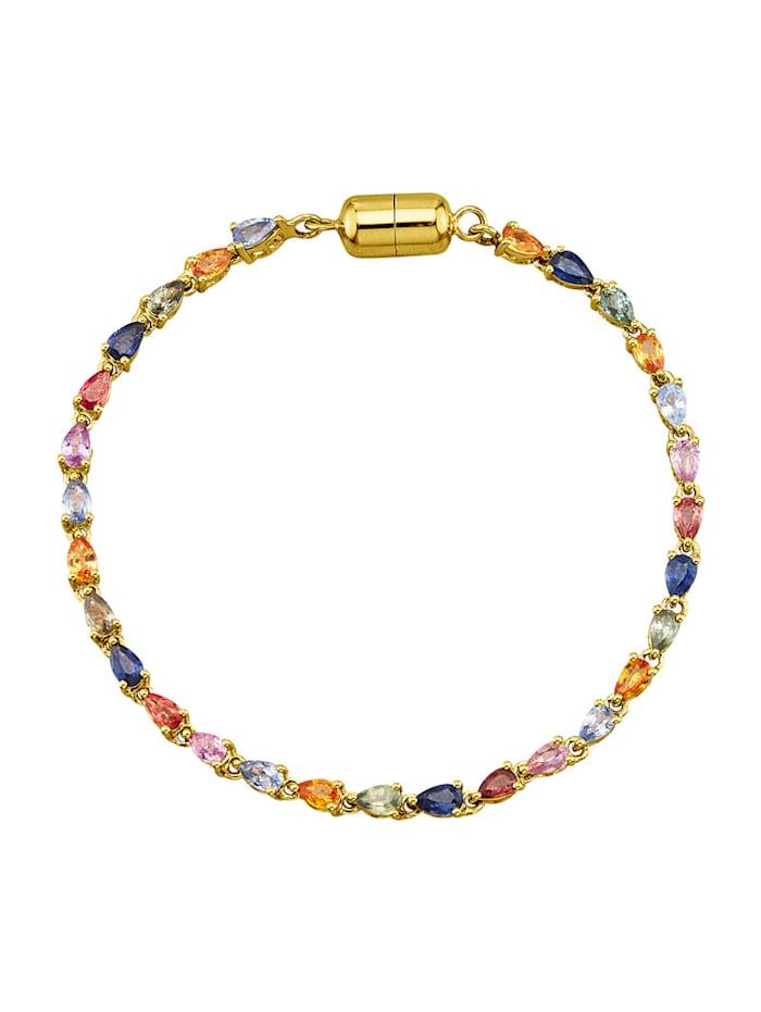 Armband mit Saphiren, Multicolor