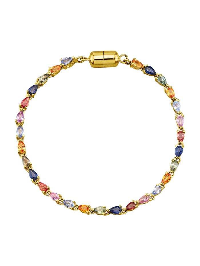 Bracelet avec saphirs, Multicolore