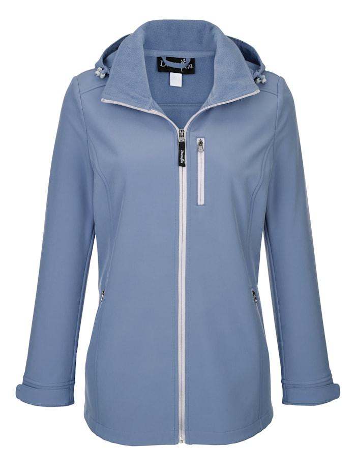 Dress In Jacke mit abnehmbarer Kapuze, Blau