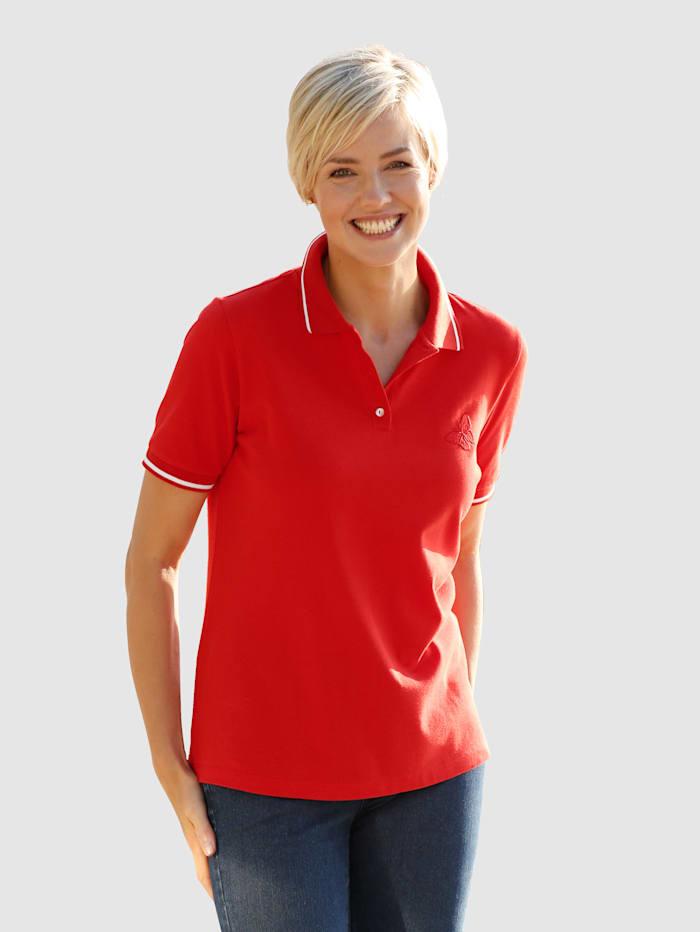 Dress In Poloshirt mit Stickerei, Rot