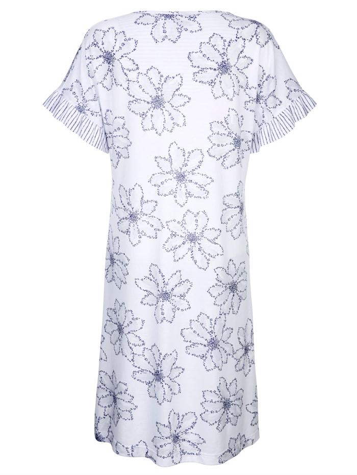 Nachthemd mit gestreiften Volantärmeln