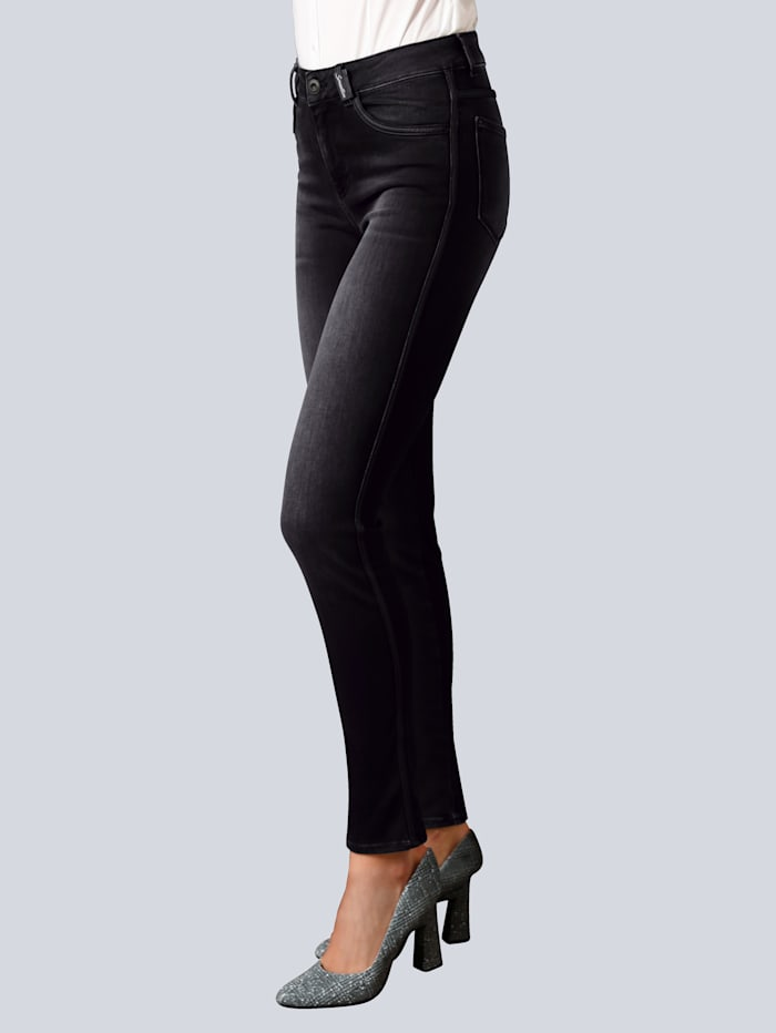 BRAX Jeans 'Shakira'  mit Galonstreifen, Black stone