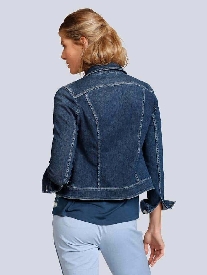 Jeansjacke aus leichtem Stretchdenim