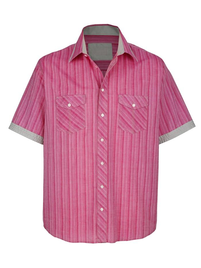 Boston Park Skjorta i somrigt, lätt material, Cerise