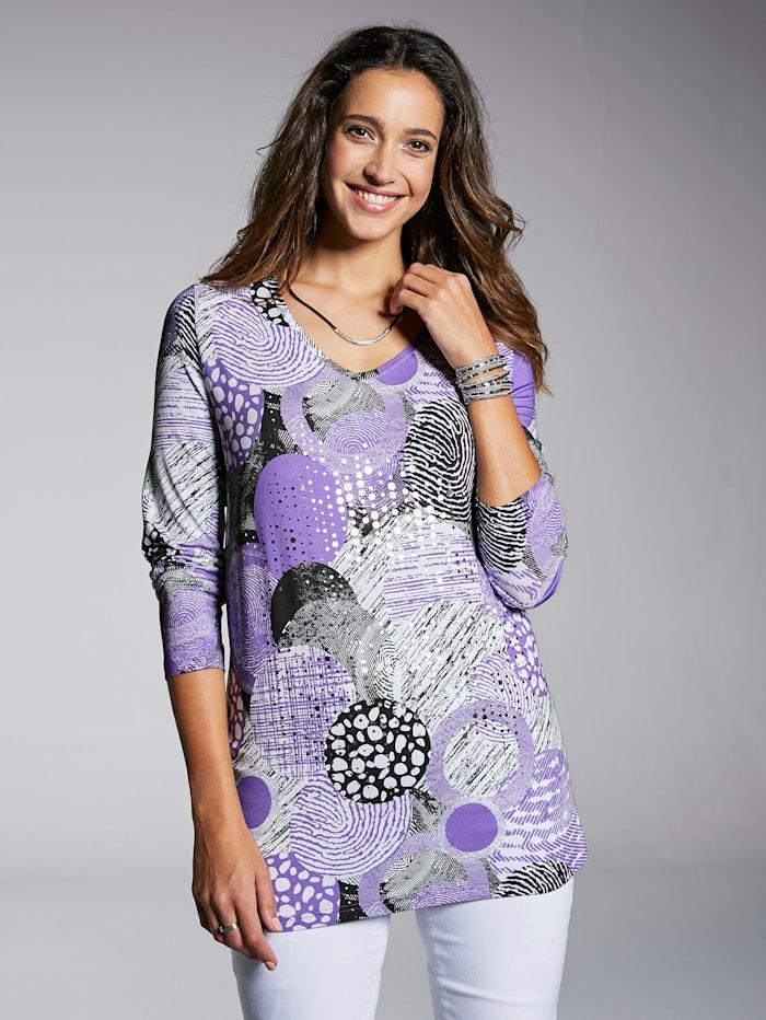 Shirt mit dekorativen Folienprint