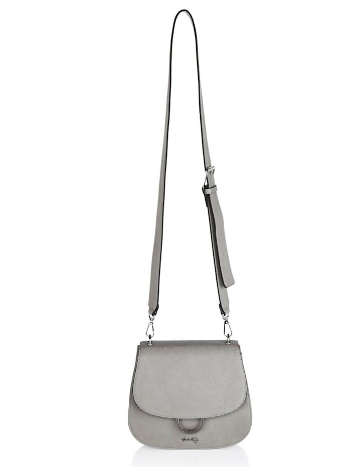 Taschenherz Shoulder bag made from a premium fabric, Light Grey