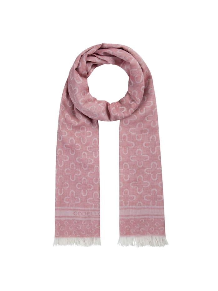 Codello Logo-Schal aus edler Baumwolle, red