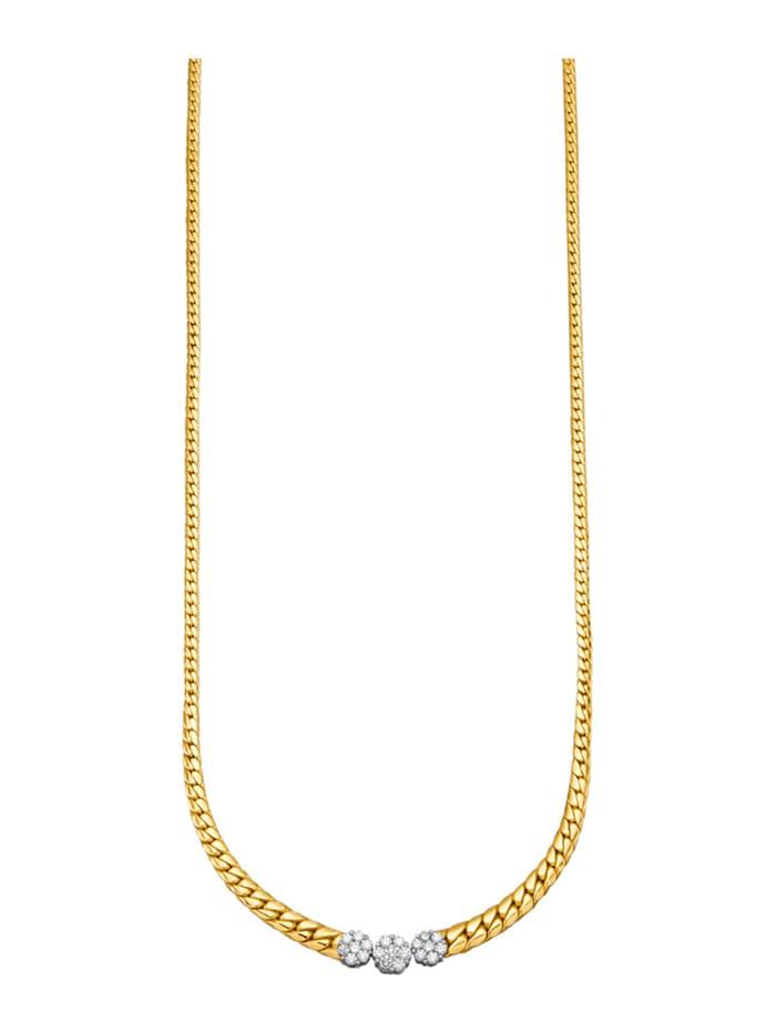 Diemer Diamant Collier mit lupenreinen Brillanten, Weiß
