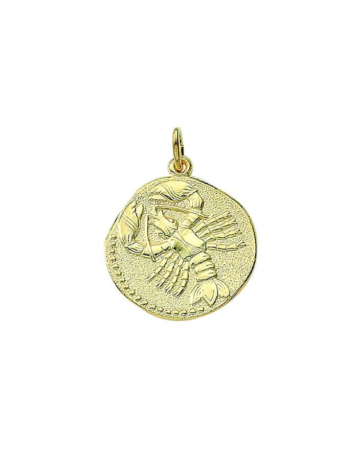 1001 Diamonds Damen & Herren Goldschmuck 333 Gold Sternzeichen Anhänger Krebs Ø 18,2 mm, gold