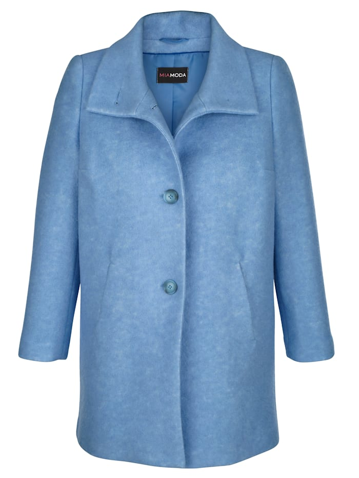 MIAMODA Veste en laine mélangée, Bleu ciel