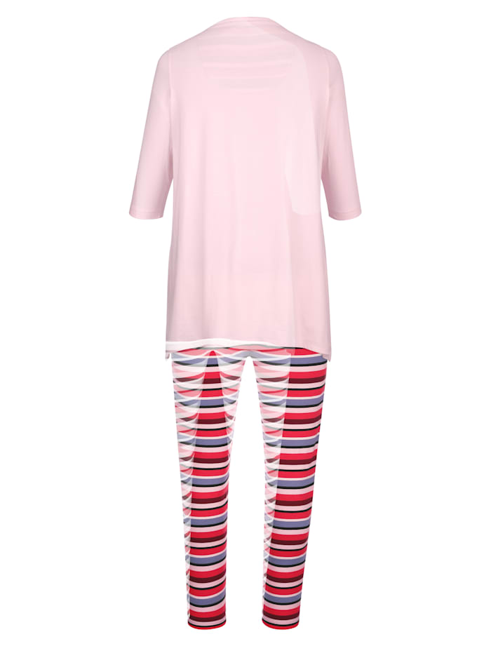 Pyjama met modieuze puntige zoom