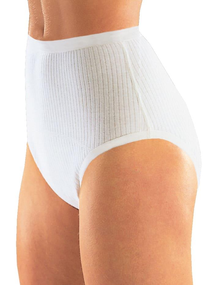 Suprima Damen Baumwoll-Slip , Schlupfform, weiß